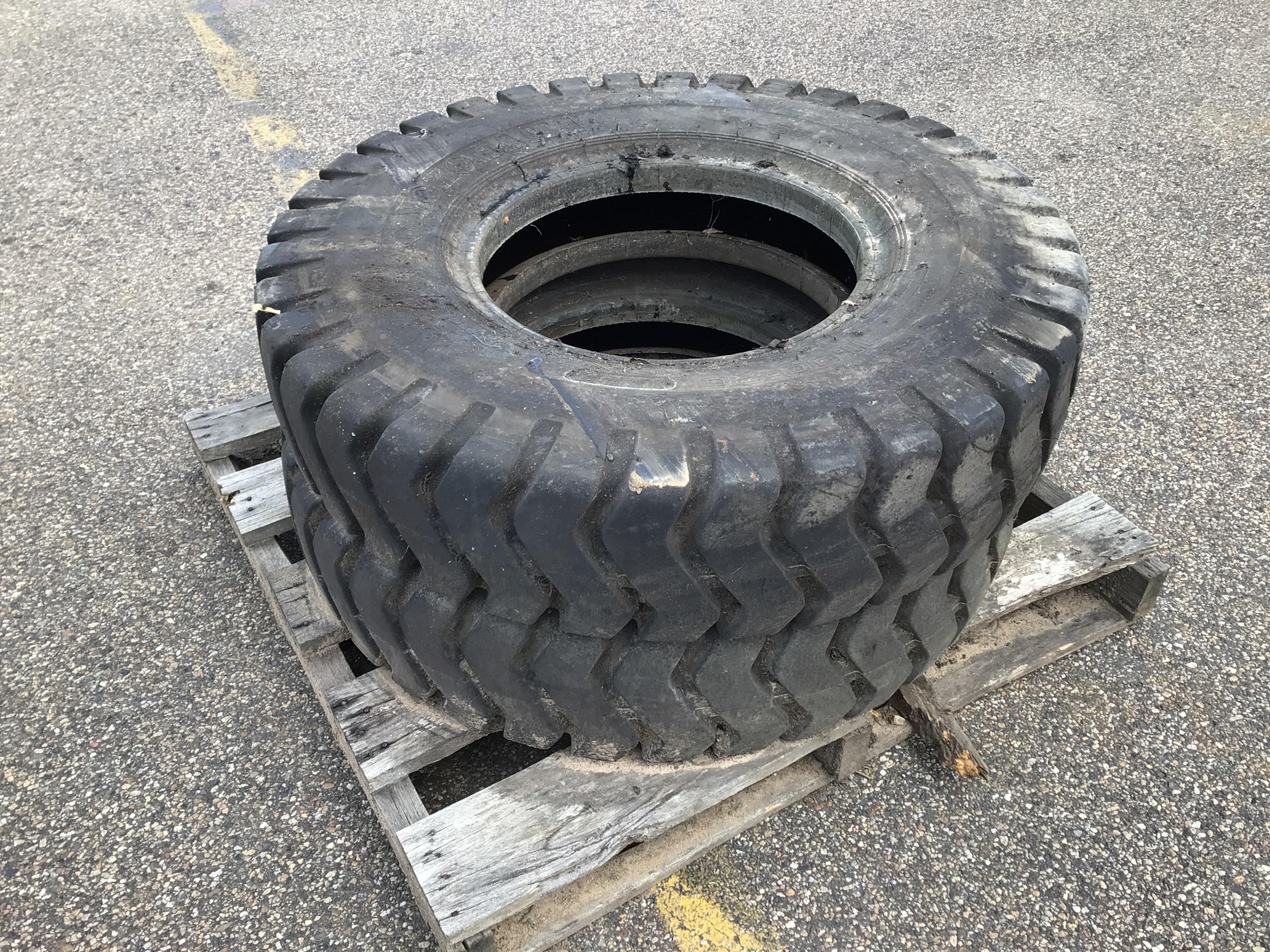 2 x Earthmoving Tyres