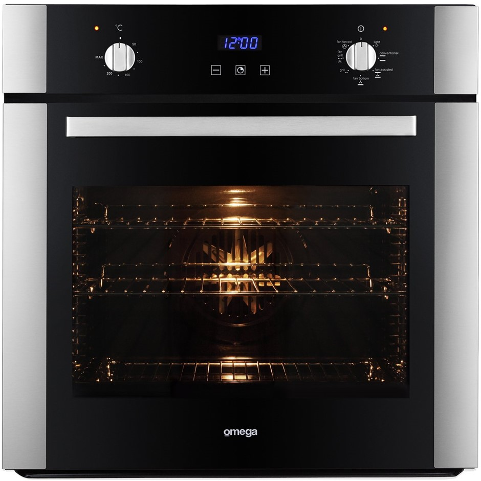 Omega 600mm/60cm Electric Wall Oven (OO687X) - ORP: $999