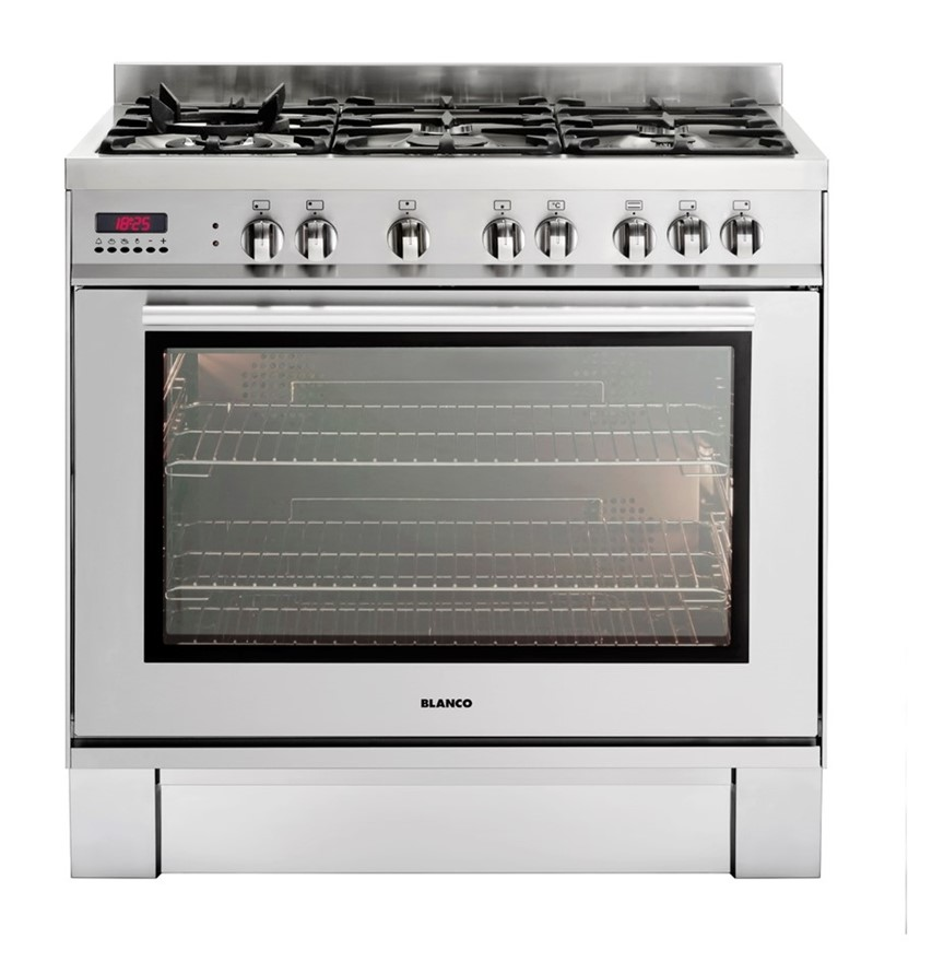 Blanco 90cm 6 Burner Gas Cooktop & Electric Oven (BFD9156WX) - ORP: $2,999
