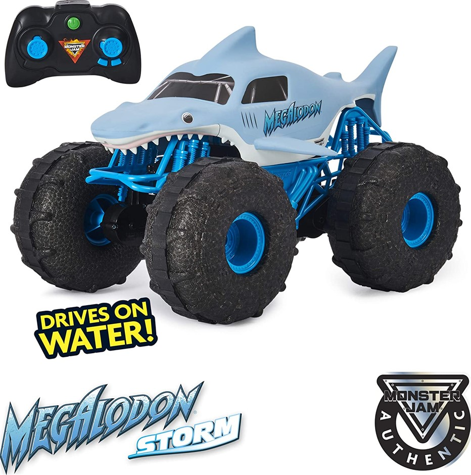 MONSTER JAM Megalodon Storm GBL Toy. NB: USED. Condition Unknown. (SN:B081V