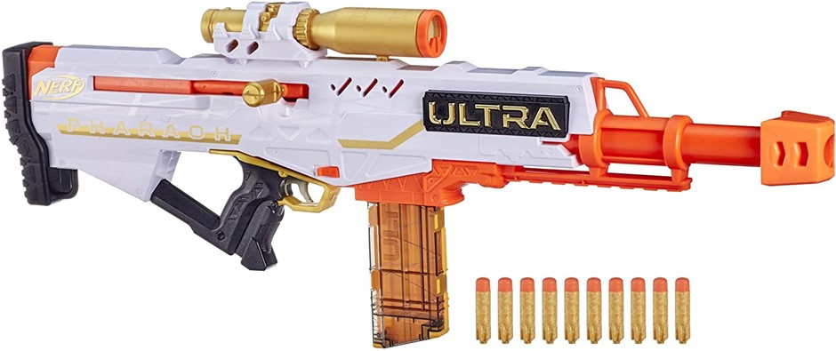 HASBRO Nerf Ultra Pharaoh Bolt Action Toy Blaster with Limited Edition Gold