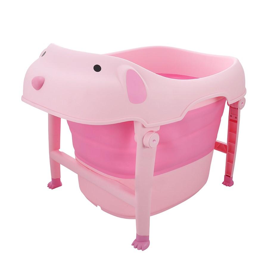 Children Folding Bathtub Portability Tub Baby Freestanding Portable Bathtub