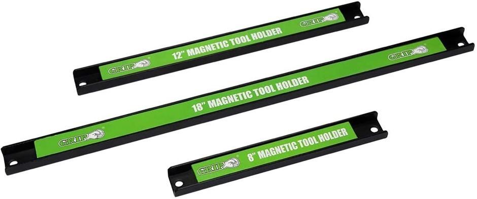 GRIP Magnetic Tool Holder Set, Black, 3 piece. N.B: Damaged Packaging. Buye