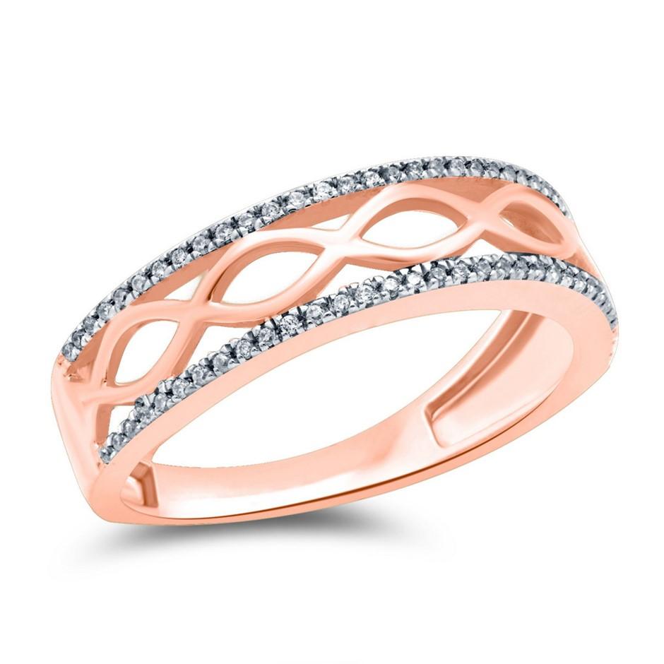 9ct Rose Gold, 0.10ct Diamond Ring