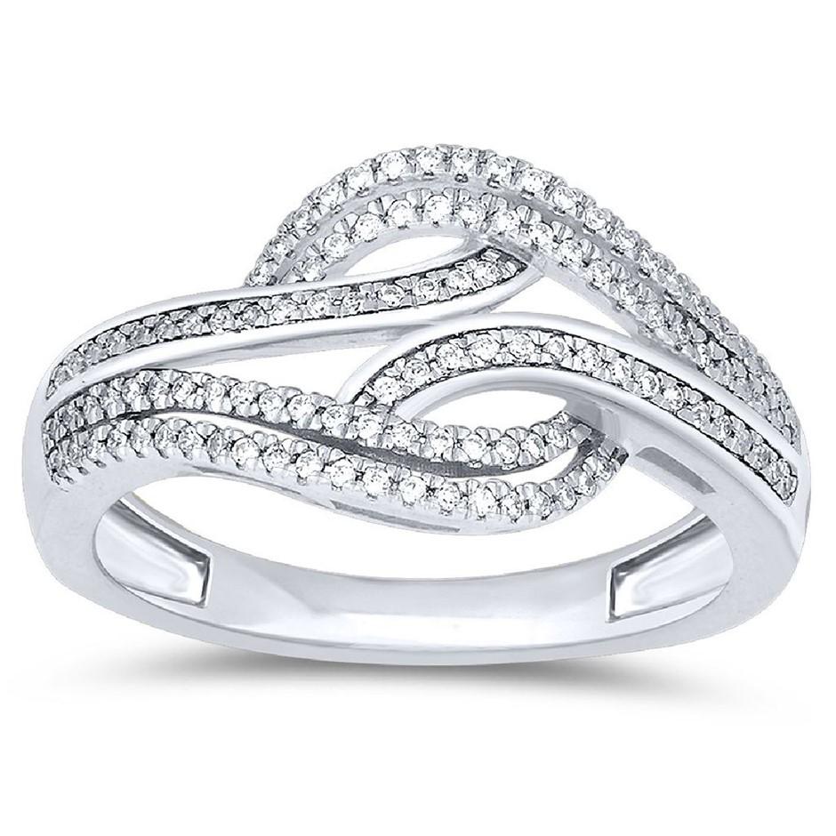 9ct White Gold, 0.21ct Diamond Ring