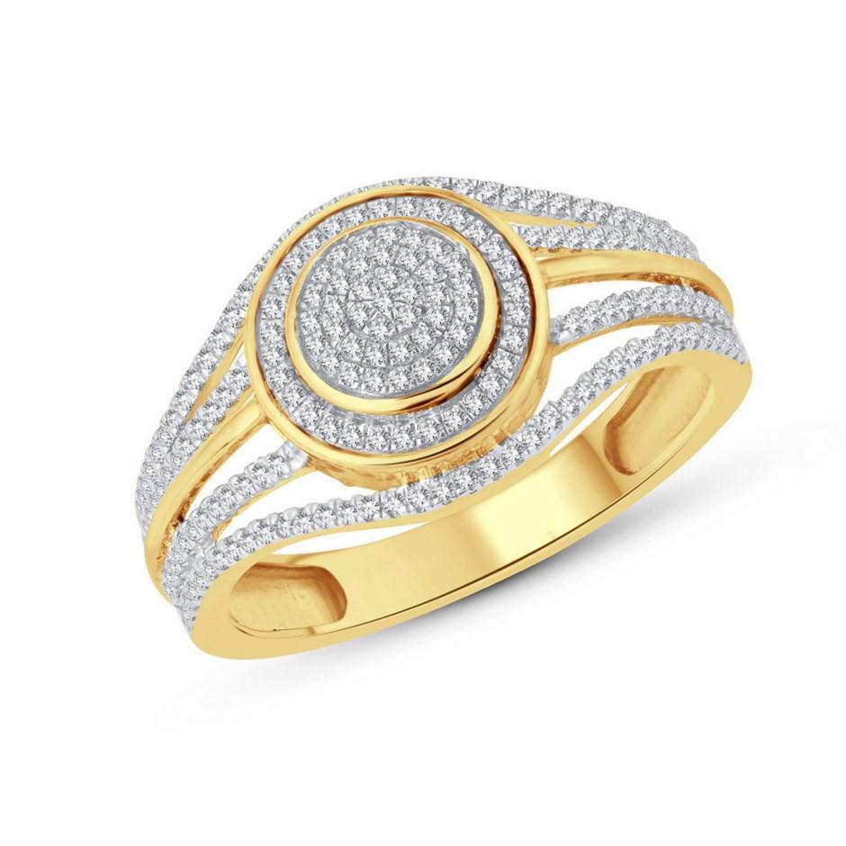 9ct Yellow Gold, 0.27ct Diamond Ring