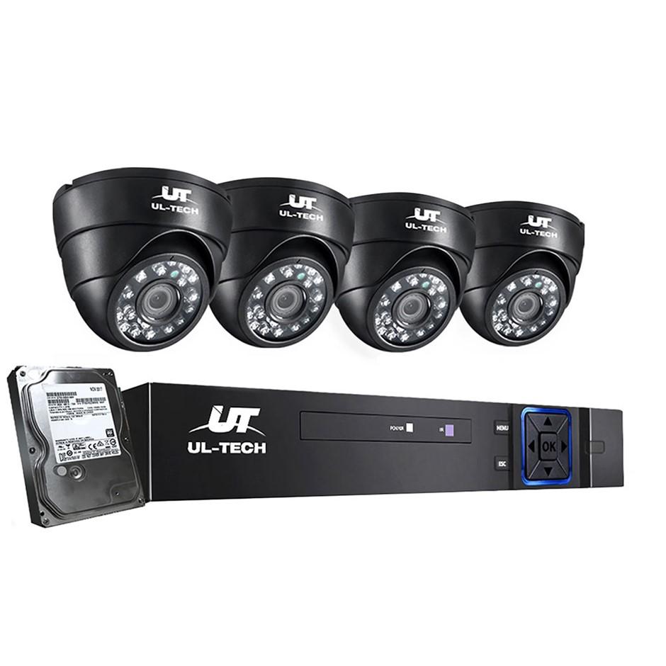ULtech CCTV Security Home Camera System DVR 1080P Day Night 2MP IP 4 1TB