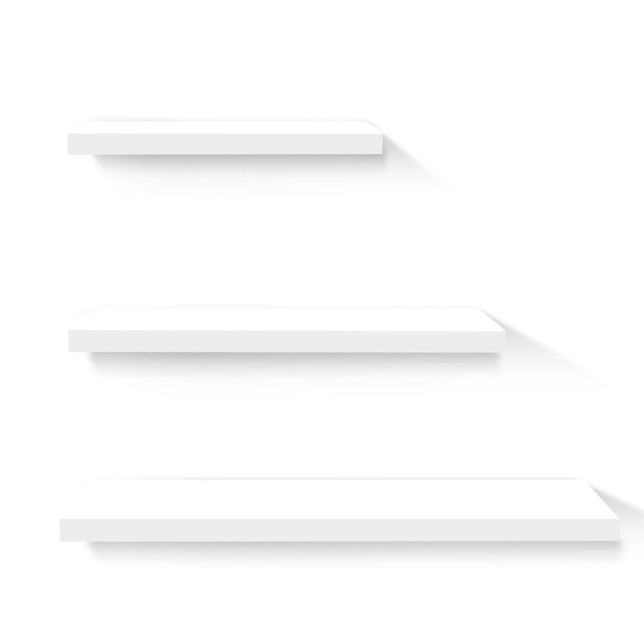 Artiss 3 Piece Floating Wall Shelves - White