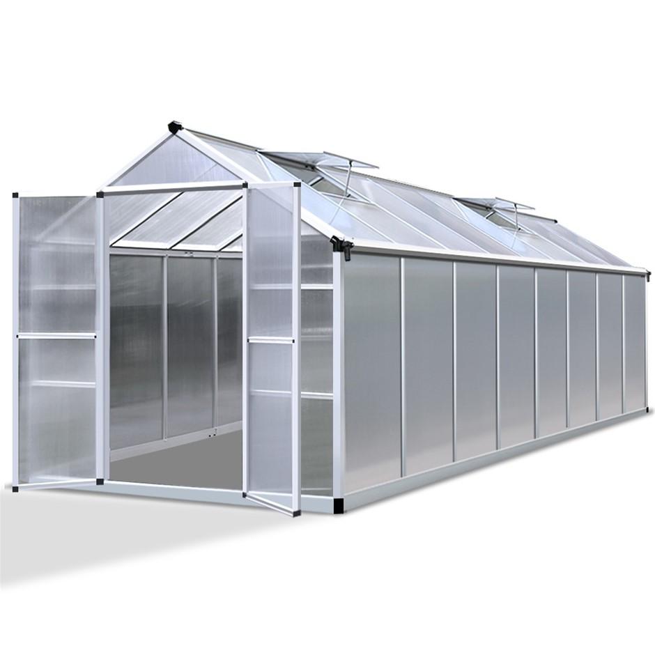 Green Fingers 4.7 x 2.5m Polycarbonate Aluminium Greenhouse