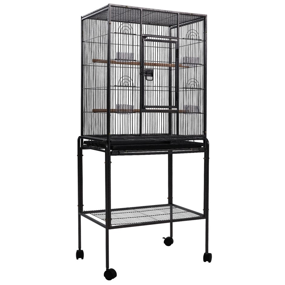 i.Pet Bird Cage Pet Cages Aviary 144CM Large Travel Stand Budgie Parrot Toy