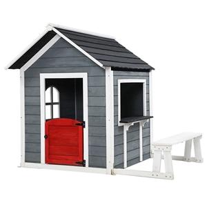 Keezi Kids Cubby House Outdoor Pretend P