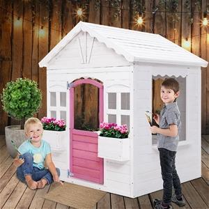 Keezi Kids Wooden Cubby House w/ Floor O