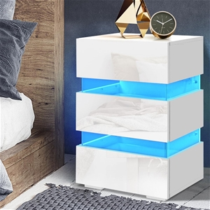 Artiss Bedside Table Side Unit RGB LED L