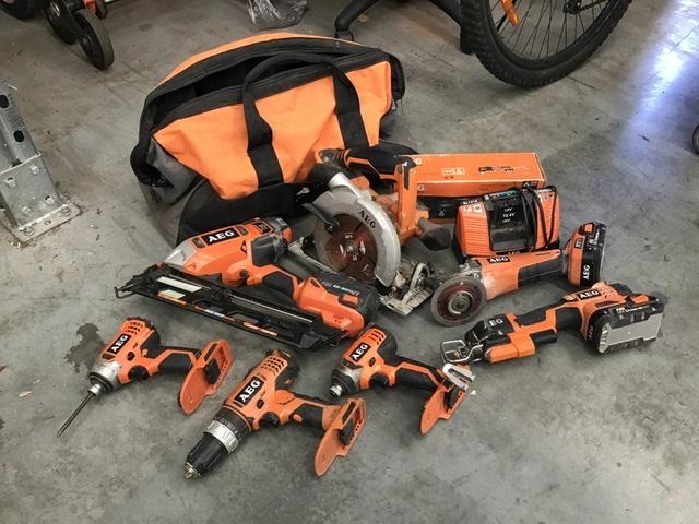 Assorted AEG Cordless Power Tools