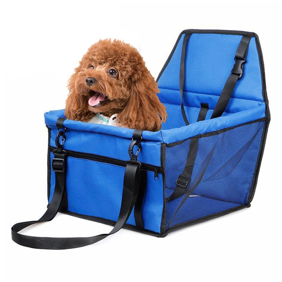 SOGA Waterproof Car Seat Pet Booster Blue