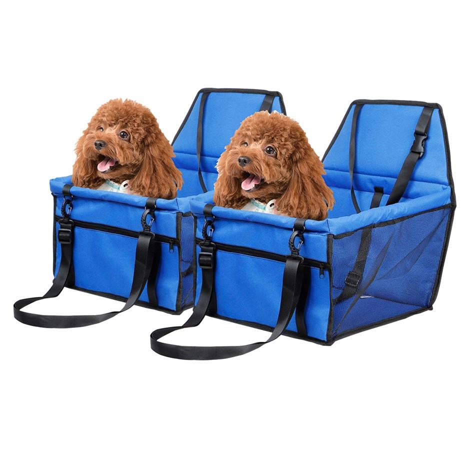 SOGA 2X Waterproof Car Seat Pet Booster Blue