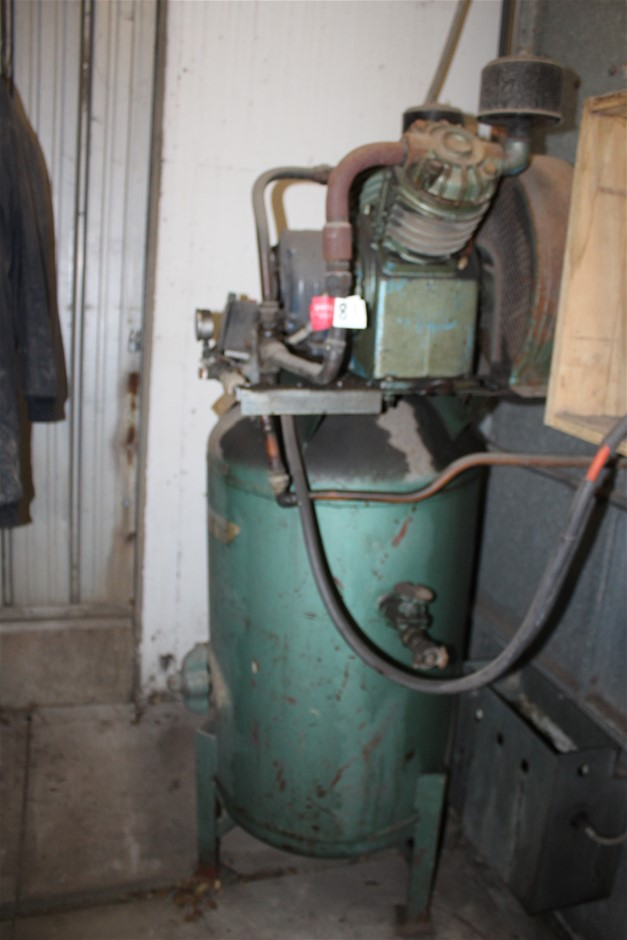 "Top Mounted Air Compressor ""Ross"" Brand with Vertical Receiver Tank"