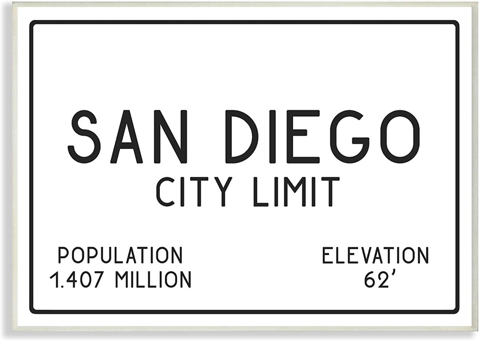 Stupell Industries San Diego City Limit Wall Plaque Art