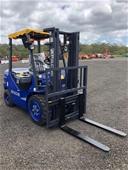 Unreserved 2021 Unused  3 Ton Diesel Forklift - Toowoomba