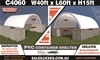 2021 Unused Heavy Duty 40ft x 60ft Container Shelter