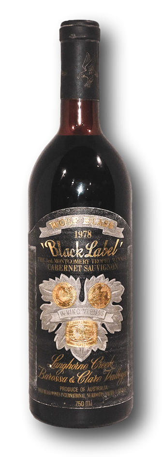 Wolf Blass Black Label Cabernet Shiraz 1978 (1x 750mL), SA