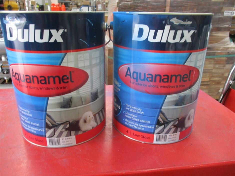Qty 2 x Dulux 10 Litre Tins of Paint