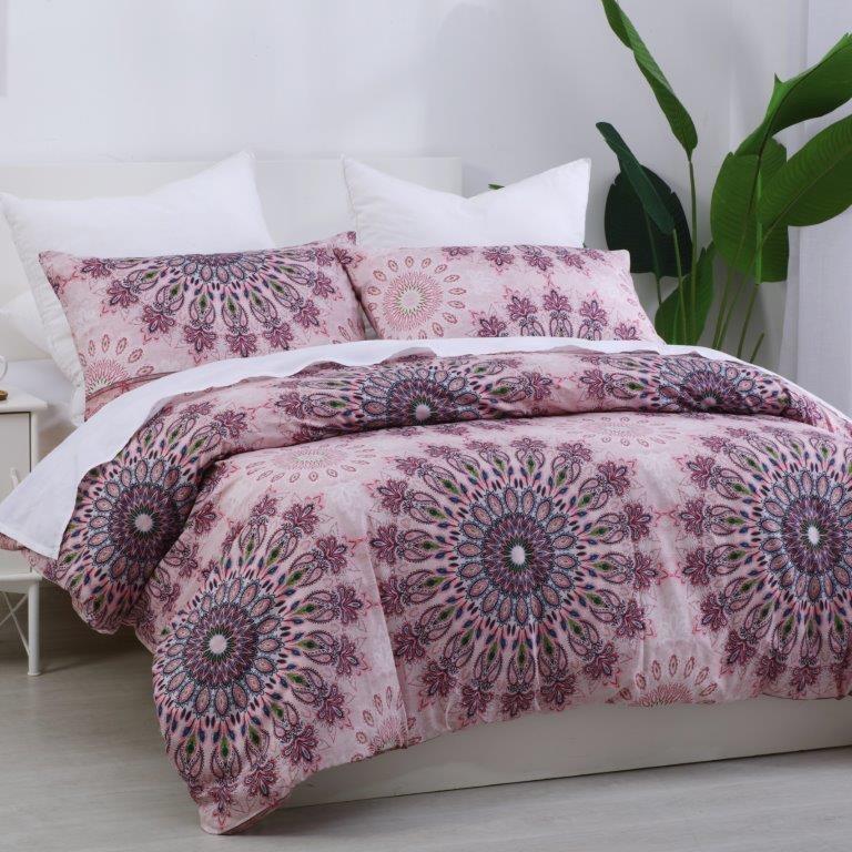 Dreamaker Printed Quilt Cover Set Desert Flower - King Bed