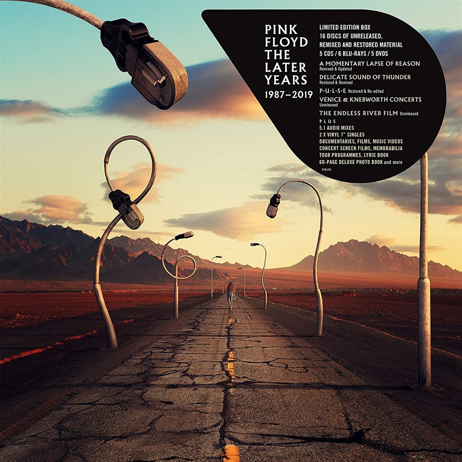 PINK FLOYD ``The Later Years`` 18-Disc Set (5 x CDs, 6 x Blu- rays, 5 x DVD