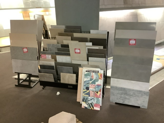 3 x Tile Display Stands & Assorted Tiles