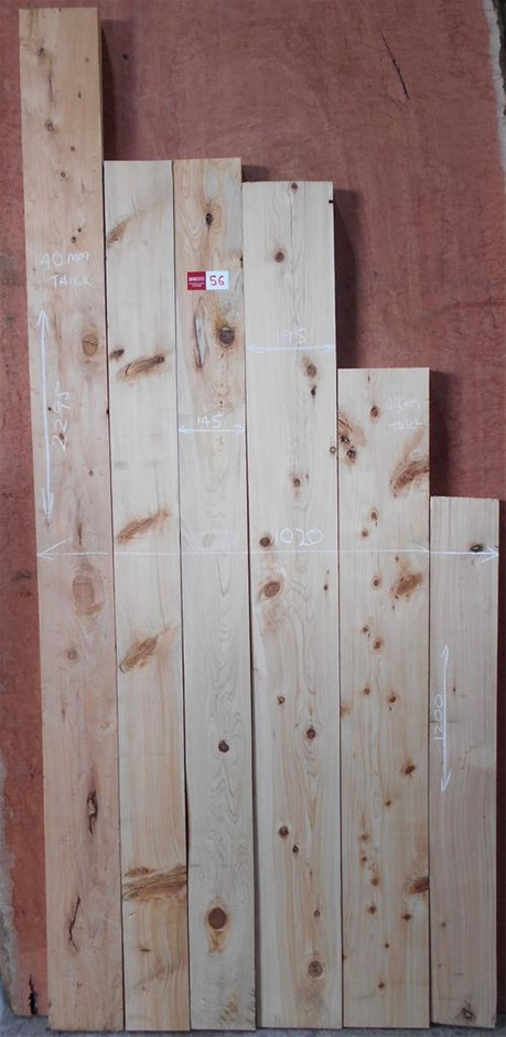 Assorted timber / furniture board pack (6 boards) - Golden Cypress