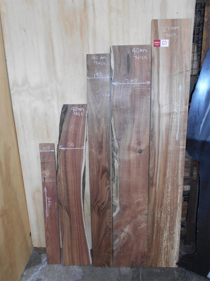 Assorted timber / furniture board pack (5 boards) - Australian Blackwood