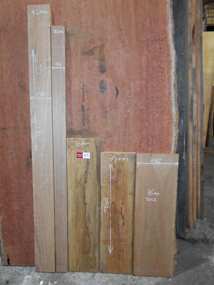 Assorted timber / furniture board pack (5 boards) - Australian Blackbutt HW