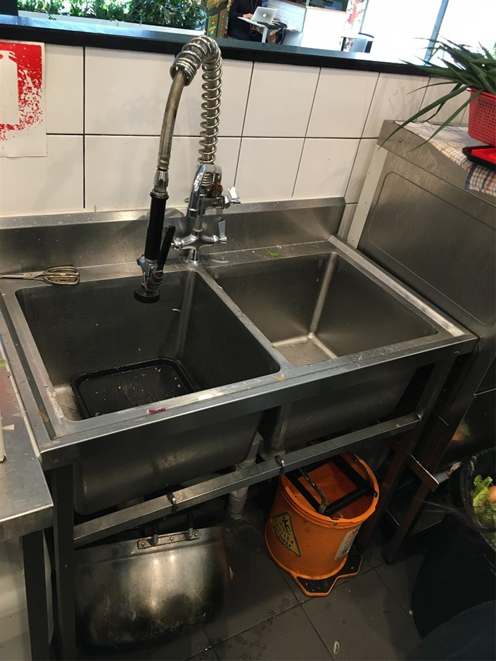 Stainless Steel Double Basin Commercial Sink