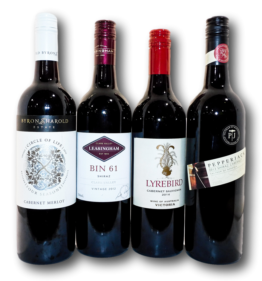 Mixed Australian Red Wine (4x 750mL), Multi-regional