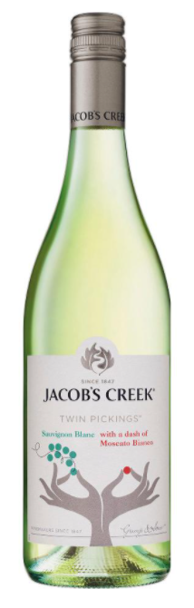 Jacobs Creek Twin Pickings Sauv Blanc Moscato Bianco 2020 (6 x 750mL)