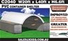 2021 Unused Heavy duty 40ft Container Shelter, <li> Model: C2040 - 20ft wi