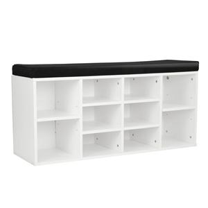 Shoe Rack Cabinet Organiser Black Cushio
