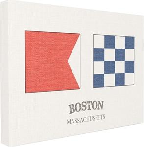 Boston Nautical Flags Canvas Wall Art, 2