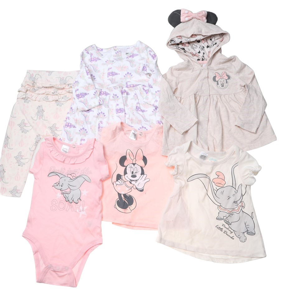 6 x DISNEY Mixed Baby Clothing, Size 18m, Multi. Buyers Note - Discount Fre
