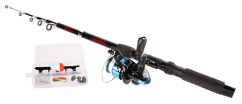 Telescopic Fishing Rod 2M, c/w Reel & Accessories. Buyers Note - Discount F