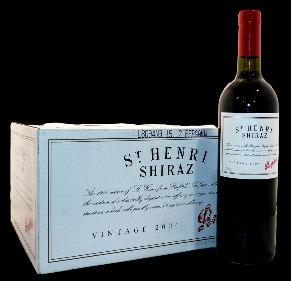 Penfolds St Henri Shiraz 2004 (6x 750mL), SA