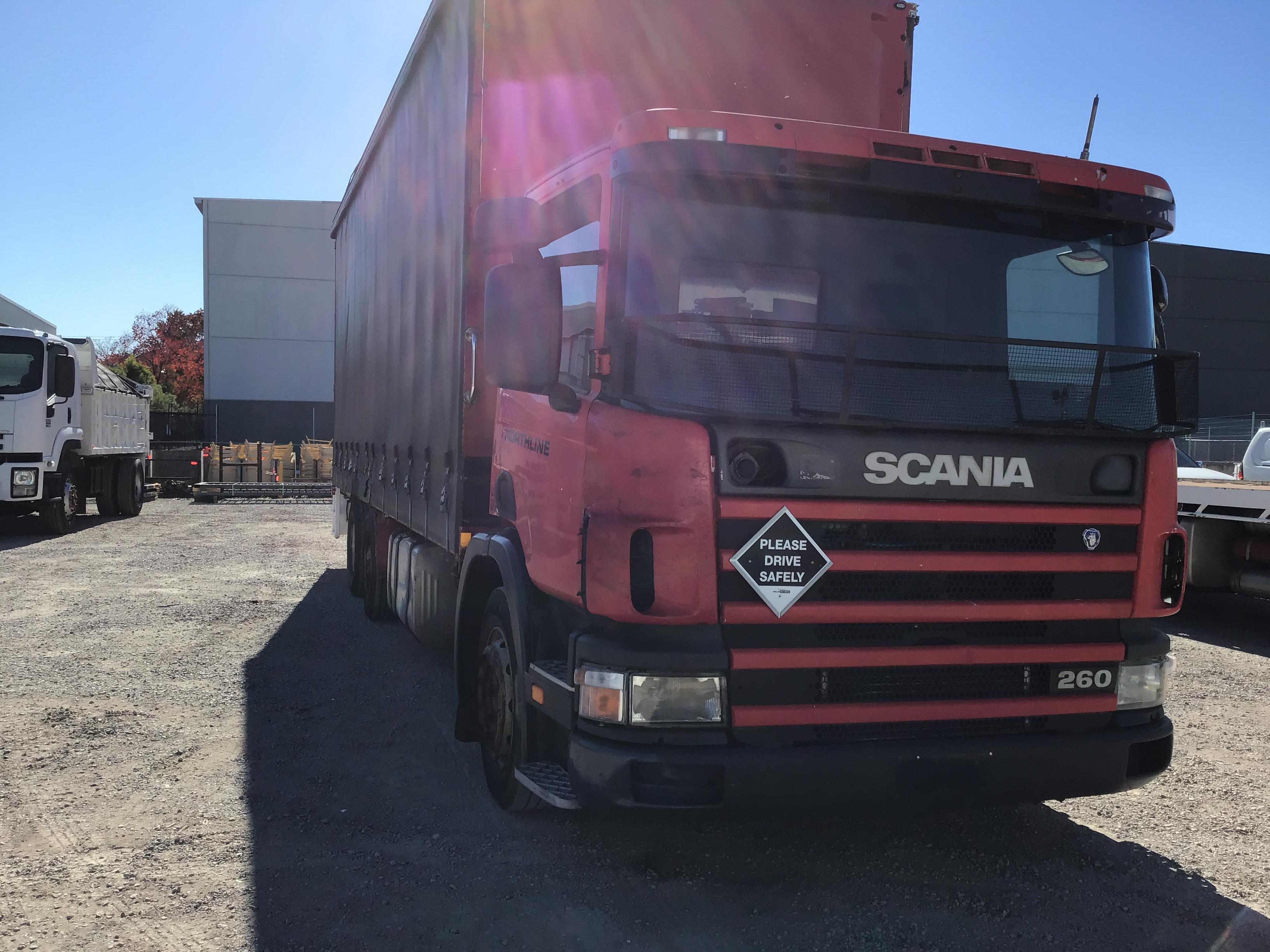 1998 SCANIA 260 6 x 2 Curtainsider Rigid Truck