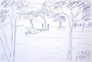 PRO HART (b.1928-2006) ORIGINAL Drawing
