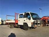 Unreserved 1996 Isuzu Tipper Truck & Scissor Car Hoist
