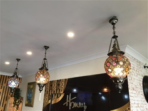 3 x Persian Style Feature Pendant Lights