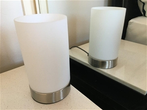 2 x Anko Glass Touch Lamps
