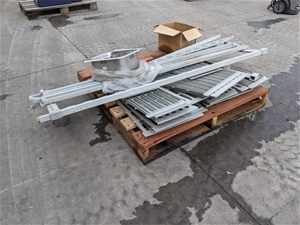Pallet of Shelving Sinks and stainless s