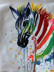 Sassy Zebras - Original paintedl artwork