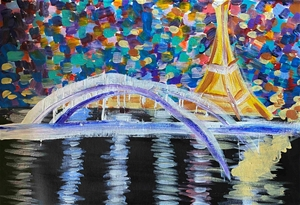 Ahoy Paris! - Original paintedl artwork
