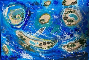 Lost in Paradise - paintedl original art